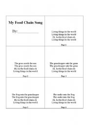 English Worksheet: Food Chain Book