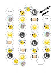 English Worksheets: Greetings Game