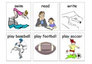 English Worksheets: Past time action flashcards