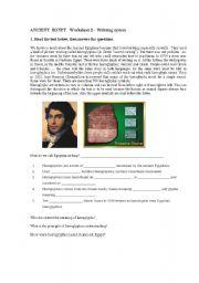 English Worksheets: Egyptian writting system