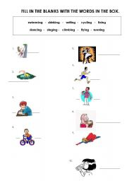 English Worksheets: DOING THINGS
