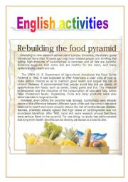 English Worksheet: Rebuilding the food pyramid