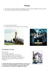 English Worksheets: Fantasy