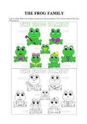 English Worksheet: The frog family