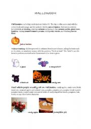 English worksheet: Halloween vocabulary and practice