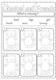 English Worksheet: What�s missing? part 1