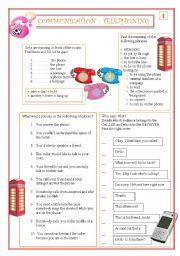 English Worksheets: Communication - Telephoning part 2