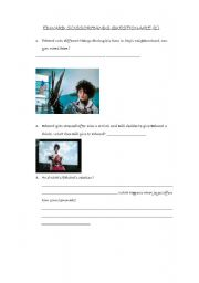 Edward Scissorhands Questionaire 1