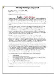 English Worksheets: Weekly Writing