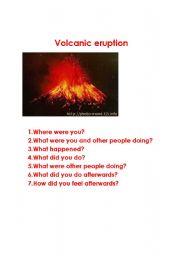 English Worksheets: Volcanic eruption