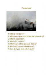 English Worksheet: Tsunami