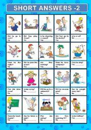 English Worksheets: SHORT ANSWERS 2