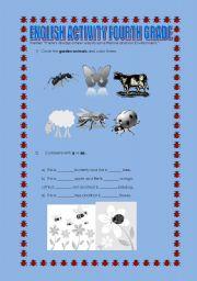 English Worksheets: English Activity fourth grade
