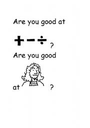 English Worksheets: Subjects : Are you good at ...?