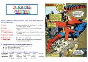English Worksheets: COMICS Part 1 of 5 - Superman extracts and activities