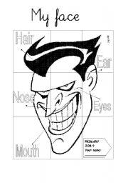 English Worksheets: Bad guy face board