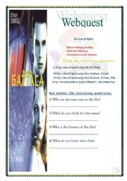 Gattaca _ FILM WEBQUEST (5 pages, KEY included)