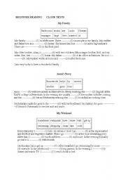 English worksheet: beginner reading