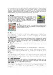 English Worksheets: Irish words