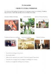 English Worksheet: CROSS-CULTURAL WEDDINGS