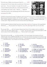 English Worksheets: beatles pairwork