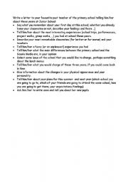 English Worksheets: Outline for a letter to a teacher