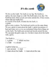 English Worksheets: simple passage