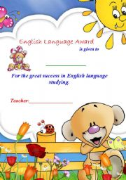 English Language Award