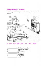 English Worksheets: COMPLETE THE QUESTIONS AND ANSWERS