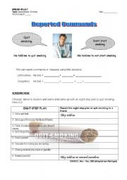 English Worksheets: Reported Speech Part 2: Commands