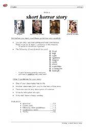 English Worksheet: Short horror story