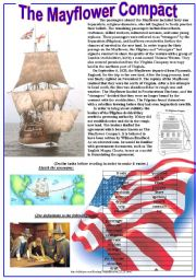 English worksheet: The Mayflower Compact