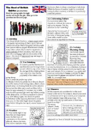 English Worksheet: British Quirks (peculiarities)