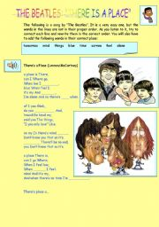 English Worksheets: THE BEATLES: