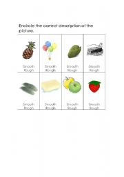 English Worksheets: Smooth & rough