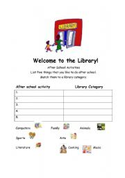 english worksheets welcome to the library the dewey decimal system. Black Bedroom Furniture Sets. Home Design Ideas