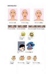 English Worksheets: Describing faces