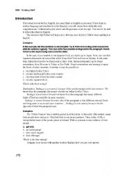 English worksheet: critical thinking passsages