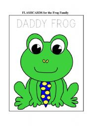 English Worksheet: The family frog - FLASHCARDS