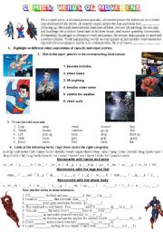 English Worksheets: COMICS Part 2 of 5 - Verbs of movement