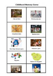 English Worksheets: Childhood Memory Card