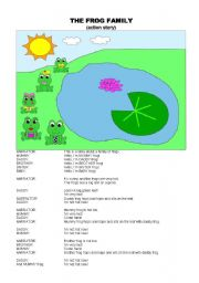 English Worksheet: The family frog - STORY