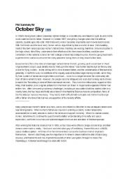october sky thesis statement