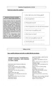 English Worksheets: Reading & Writing