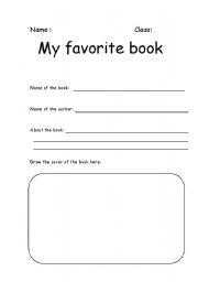 English Worksheets: My favorite book