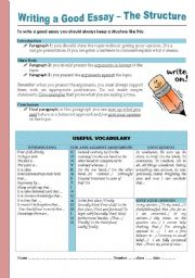 English Worksheet: Writing a good essay