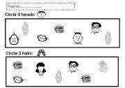 English Worksheets: head