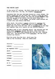 English Worksheets: The White Lady