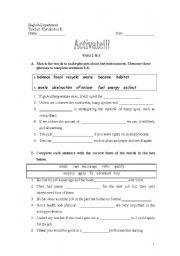 English Worksheet: ACTIVATE B2--Units 2 & 3 Test