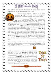 english teaching worksheets halloween stories english worksheets a scary halloween story